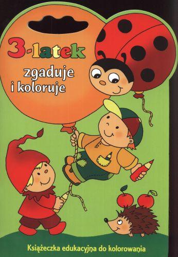 3 latek zgaduje i koloruje książeczka edukacyjna do kolorowania