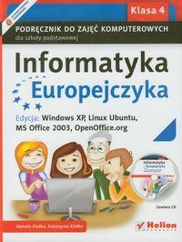 Informatyka Europejczyka klasa 4 - podręcznik +cd gratis