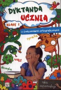 Dyktanda ucznia z ćw.ortograficznymi żyrafa kl 1