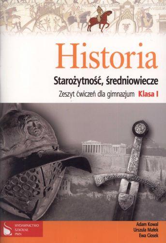 Historia kl.1 gim - Starożytność, Średniowiecze - zeszyt ćwiczeń