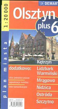 Olsztyn plus 6-plan miasta 1:20 000