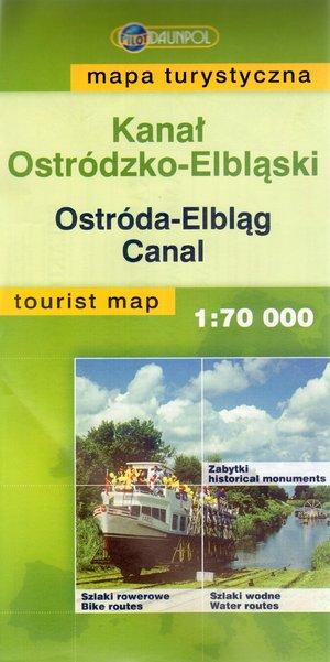 Kanał Ostródzko-Elbląski. Mapa turystyczna w skali 1:70 000