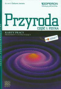 Ciekawi świata Przyroda Część 1 Fizyka Karty pracy Przedmiot uzupełniający