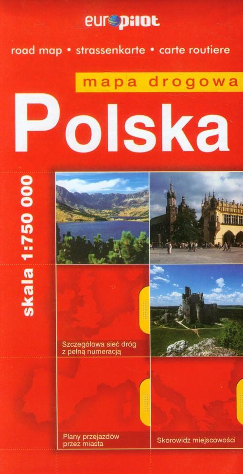 Polska mapa drogowa 1:750 000
