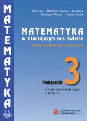 Matematyka w otaczającym nas świecie klasa 3 podręcznik zakres rozszerzony