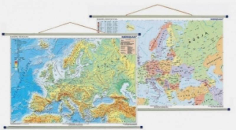 Mapa Europy-ścienna+pisak