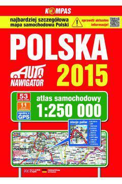 Atlas samochodowy Polski 1:250 000 edycja 2015