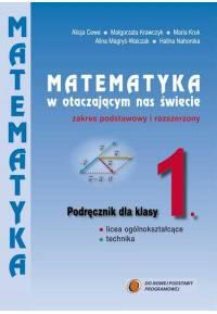 Matematyka w otaczającym nas świecie klasa 1 podręcznik zakres roszerzony