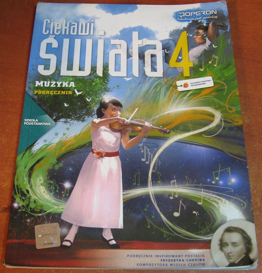 Ciekawi świata 4 Muzyka Podręcznik - podręcznik używany