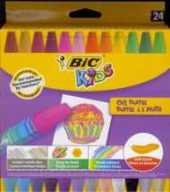 Kredki pastele olejowe 24 kolory BIC KIDS