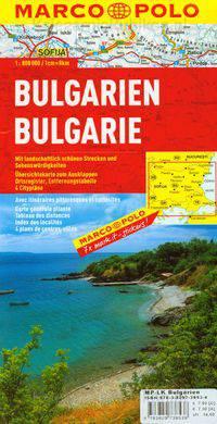 Bułgaria bulgarien bulgarie-mapa drogowa