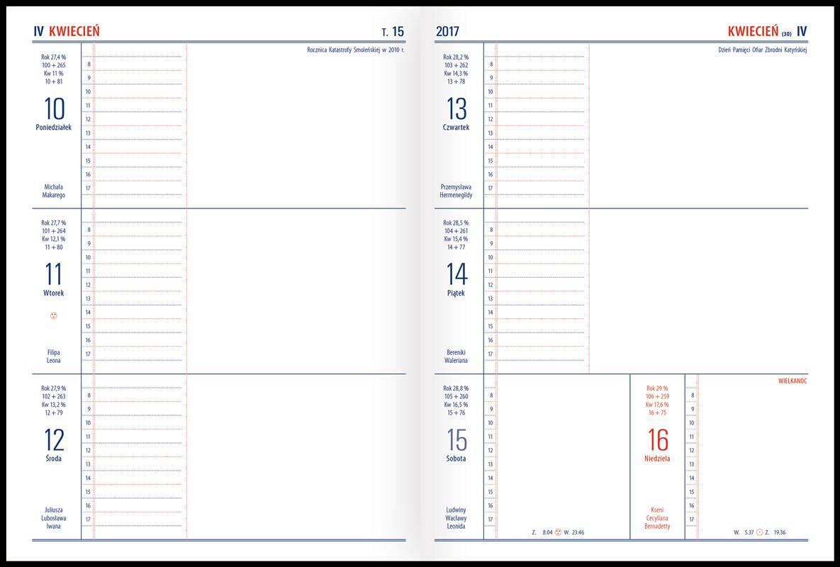 Kalendarz notesowy TENO 2017