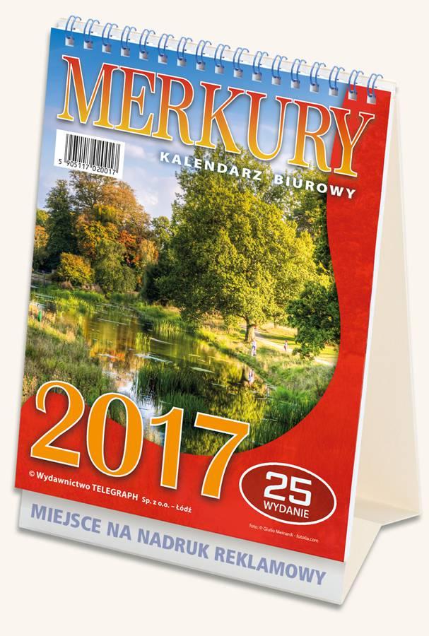 Kalendarz biurowy Merkury 2017