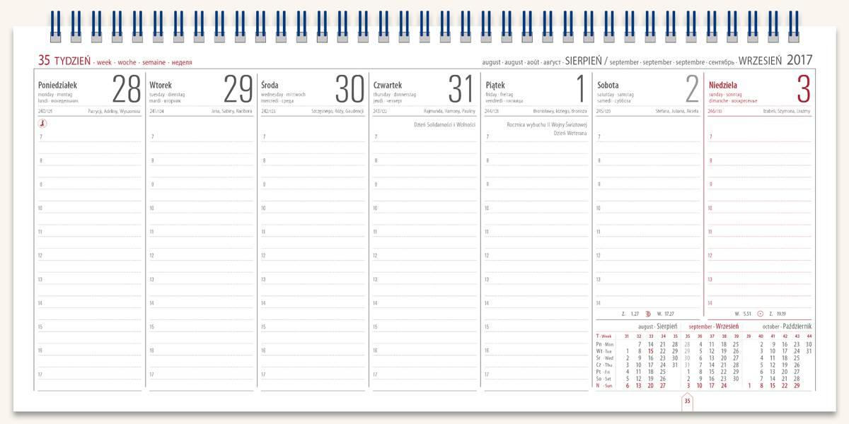 Kalendarz Biurowy Manager 2017
