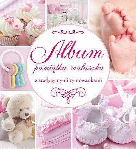 Album pamiątka maluszka z tradycyjnymi rymowankami różowy