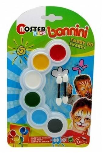 Farby do twarzy Noster Kids 6 kolorów