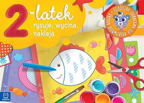 2-latek rysuje, wycina i nakleja Książeczka edukacyjna dla kreatywnego dziecka