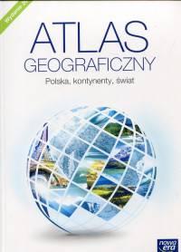 Atlas geograficzny. Szk. podst. Polska, kontynenty, świat