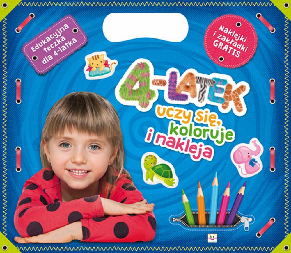 4-latek uczy się koloruje i nakleja. Edukacyjna teczka dla 4-latka