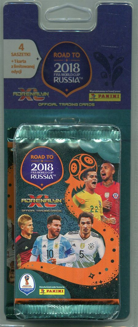Adrenalyn XL Road to 2018 FIFA World Cup Russia Blister 4+1