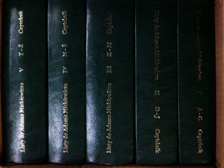 Listy do Adama Mickiewicza Tom 1-5