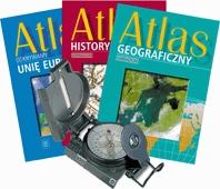 Atlas gimnazjalny-pakiet+kompas gratis