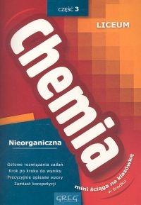 Chemia 3 Nieorganiczna + ściąga