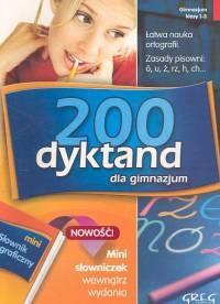 200 dyktand dla gimnazjum + mini słowniczek