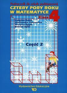 Cztery pory roku w matematyce klasa 4 część 2 - podręcznik